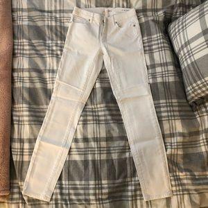 LOFT White Skinny Jeans